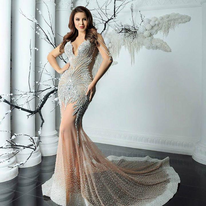 Katherine Espin white diamond gown