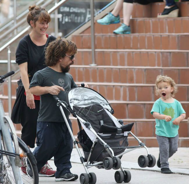 Peter Dinklage with his wife Erica Schmidt and daughter Zelig Dinklage