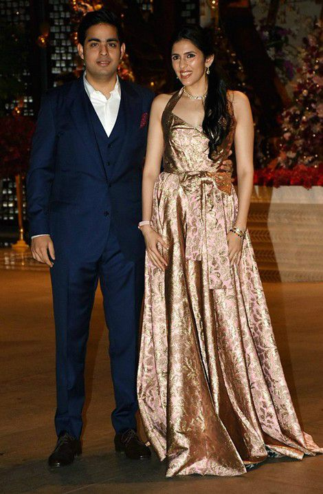 Akash Ambani and Shloka Mehta Engagement