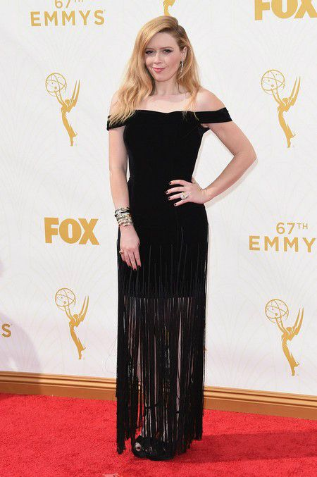Natasha Lyonne at the red carpet of the 2015 Emmy Awards