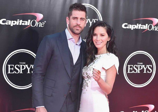 Olivia Munn with her ex-boyfriend Aaron Rodgers