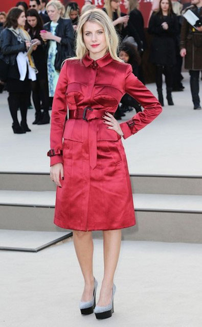 Melanie Laurent at the 2013 Burberry Prorsum