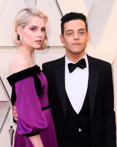 Lucy Boynton and Ramil Malek at Oscars 2019