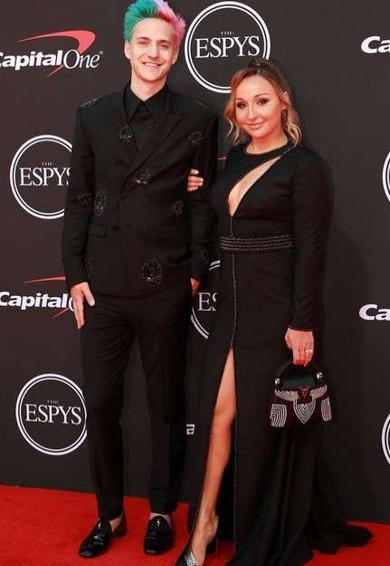 Jessica Goch and Tyler Blevins at ESPYS 2019