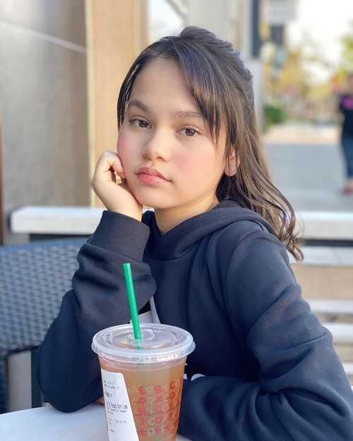 Mona Louise Rey enjoys her drink as she seen on Instagram