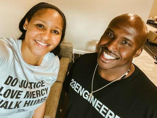 Maya Moore and husband Jonathan Irons